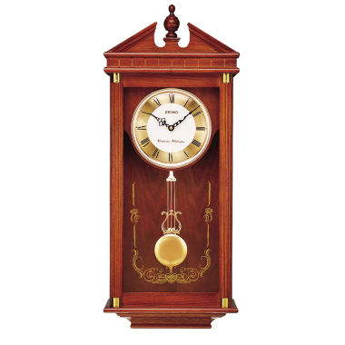 jcpenney.com | Seiko® Solid Oak Chime Wall Clock With Pendulum Qxh107blh