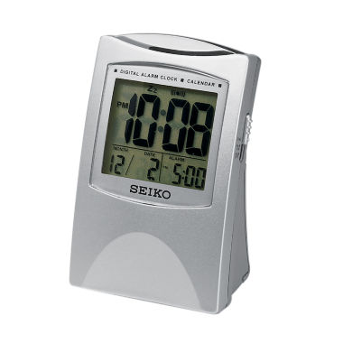 jcpenney.com | Seiko® Bedside Alarm With Get Up And Glow And LcdFeatures Silver Tone Clock Qhl005slh