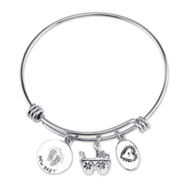 jcpenney.com | Footnotes® New Baby Stainless Steel Bangle Bracelet