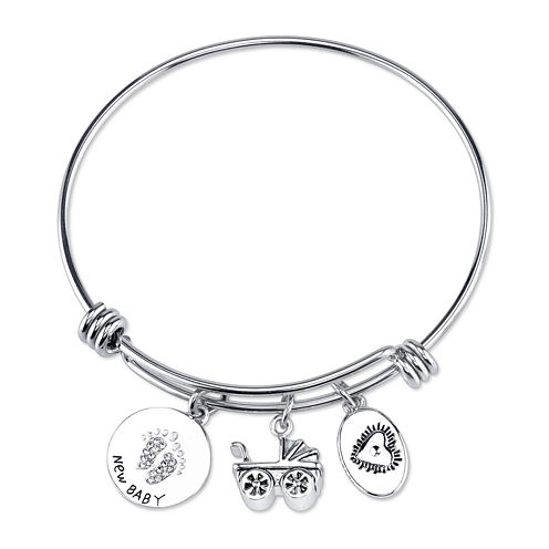 Footnotes® New Baby Stainless Steel Bangle Bracelet