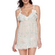 Flora Chiffon Babydoll and Thong Set