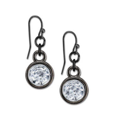 jcpenney.com | 1928® Jewelry Black and Crystal Drop Earrings
