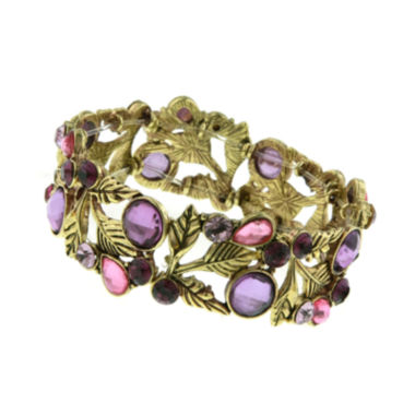 jcpenney.com | 1928® Jewelry Gold-Tone Purple Leaf Stretch Bracelet