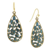 1928® Jewelry Gold-Tone Blue Crystal Teardrop Earrings