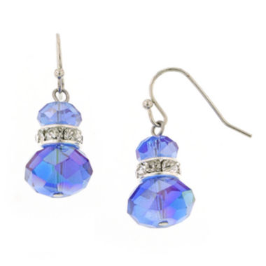 jcpenney.com | 1928® Jewelry Silver-Tone Blue Crystal Beaded Drop Earrings