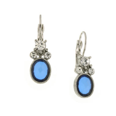 jcpenney.com | 1928® Jewelry Silver-Tone Blue Stone Drop Earrings