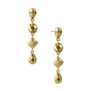 jcpenney.com | 1928® Jewelry Gold-Tone Linear Droplet Earrings