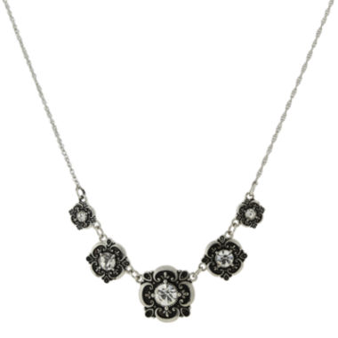 jcpenney.com | 1928® Jewelry Silver-Tone Crystal Collar Necklace