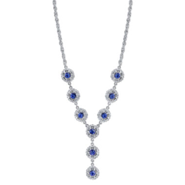 jcpenney.com | 1928® Jewelry Silver-Tone Blue Crystal Flower Y-Necklace