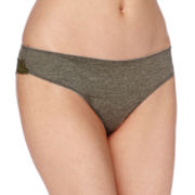 Ambrielle® Micro Heather Lace Thong