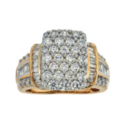 CLOSEOUT! 2 CT. T.W. Diamond 14K Two-Tone Gold Ring