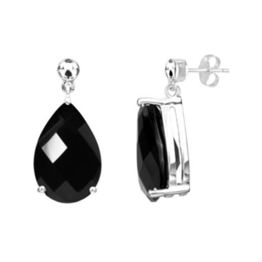 jcpenney.com | Genuine Black Onyx Sterling Silver Earrings