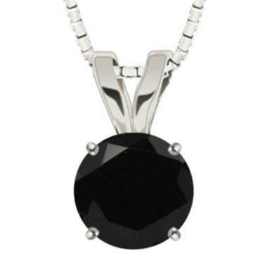 jcpenney.com | Round Genuine Black Onyx 10K White Gold Pendant Necklace