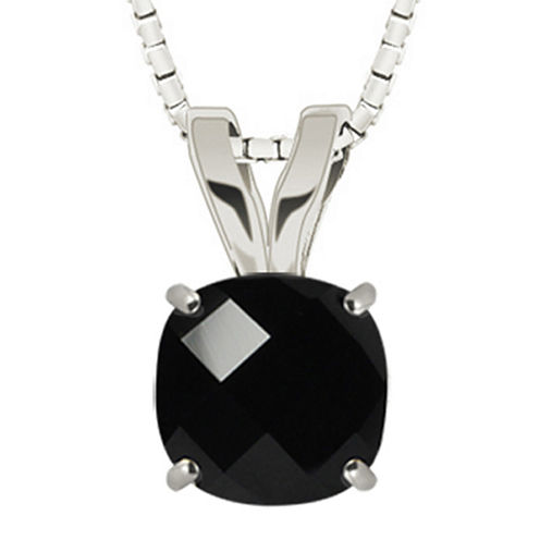 Genuine Black Onyx Sterling Silver Pendant