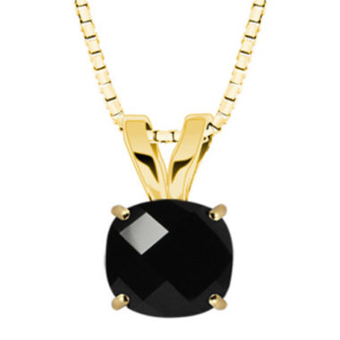 jcpenney.com | Genuine Black Onyx 10K Yellow Gold Pendant