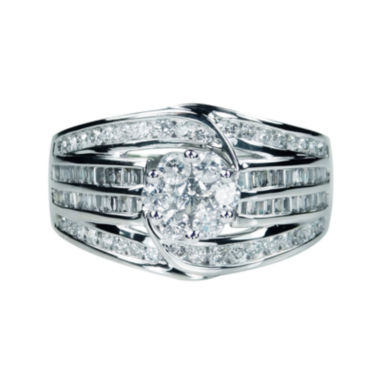 jcpenney.com | diamond blossom 1 CT. T.W. Diamond 10K White Gold Ring