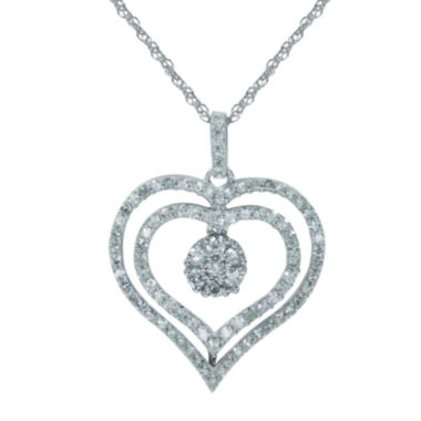 jcpenney.com | diamond blossom 1/2 CT. T.W. Diamond 10K White Gold Pendant