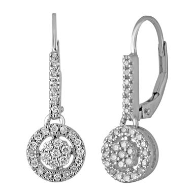 jcpenney.com | diamond blossom 3/8 CT. T.W. Diamond 10K White Gold Earrings
