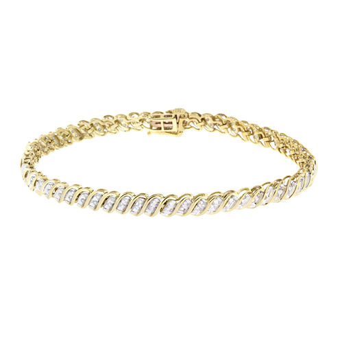 Diamond In 10K Yellow Gold Bracelet