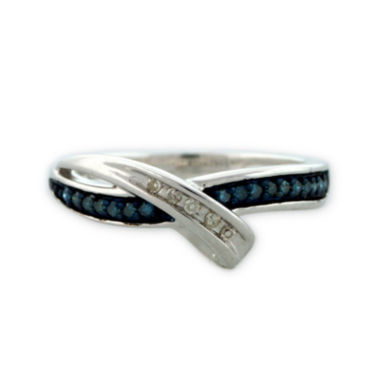 jcpenney.com | Sterling Silver Blue and White Diamond Bypass Ring