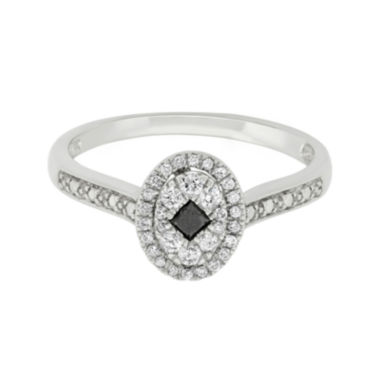 jcpenney.com | 1/3 CT. T.W. White & Color-Enhanced Black Diamond Ring