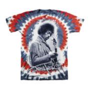 Jimi Hendrix Short-Sleeve Tie-Dye Tee