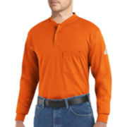 Bulwark® Flame-Resistant Long-Sleeve Henley Tee - Big & Tall
