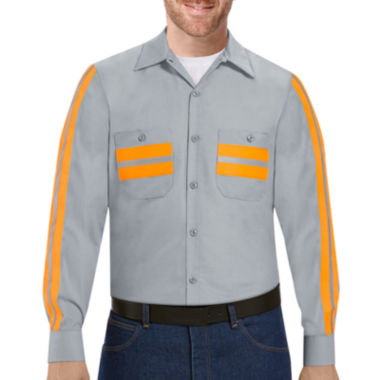 jcpenney.com | Red Kap® Long-Sleeve Enhanced Visibility Work Shirt
