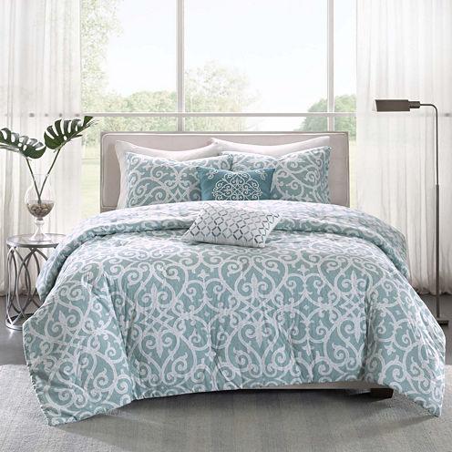 Madison Park Pure Lucia 5-pc. Reversible Comforter Set
