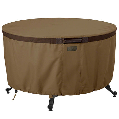 "Classic Accessories® Hickory 42"" Round Fire Pit Table Cover"
