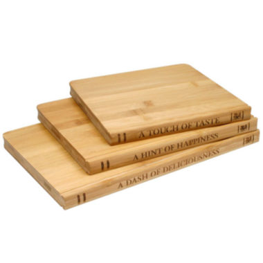 jcpenney.com | Sabatier® Library 3-pc. Bamboo Cutting Board Set