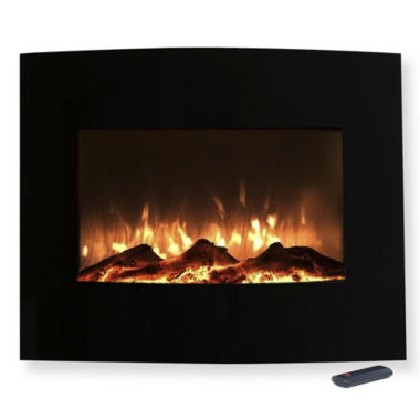"jcpenney.com | 26"" Curved Wall Mount Electric Fireplace"
