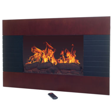 "jcpenney.com | 36"" Mohagany Wall Mount With Floor Stand Electric Fireplace"