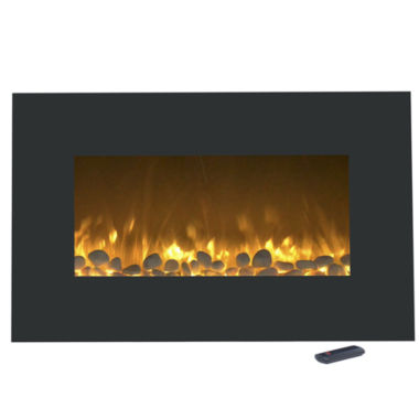 "jcpenney.com | 36"" Color Changing Wall Mount With Floor Stand Electric Fireplace"