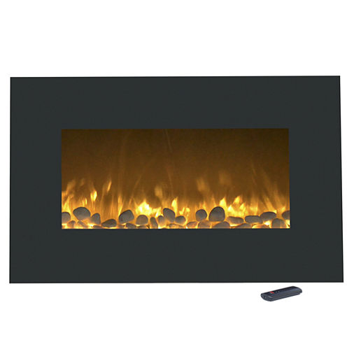 """36"""" Color Changing Wall Mount With Floor Stand Electric Fireplace"""