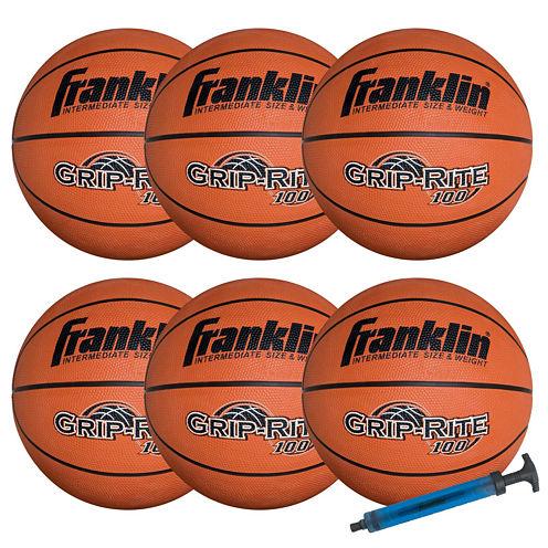 Franklin Sports Official-Size GRIP-RITE 100 Team Basketball Set