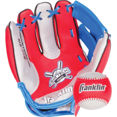 "jcpenney.com | Franklin Sports Air Tech 9"" Baseball Glove Right Handed Thrower with Ball"