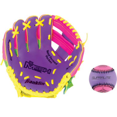 "jcpenney.com | Franklin Sports 9.5"" Teeball Meshtek Glove and Ball Set"