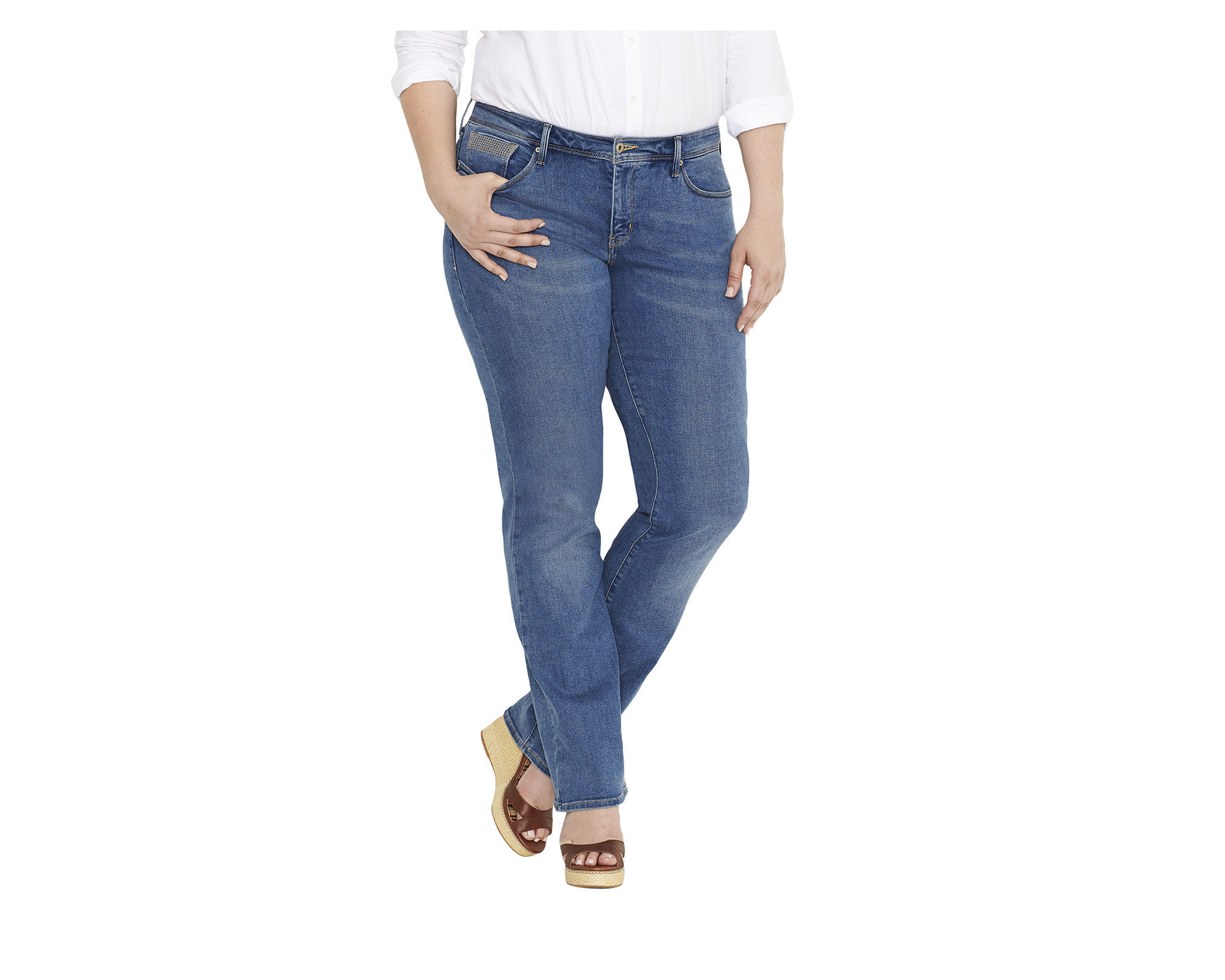 "Levis 512"" Perfectly Shaping Straight-Leg Jeans - Plus"