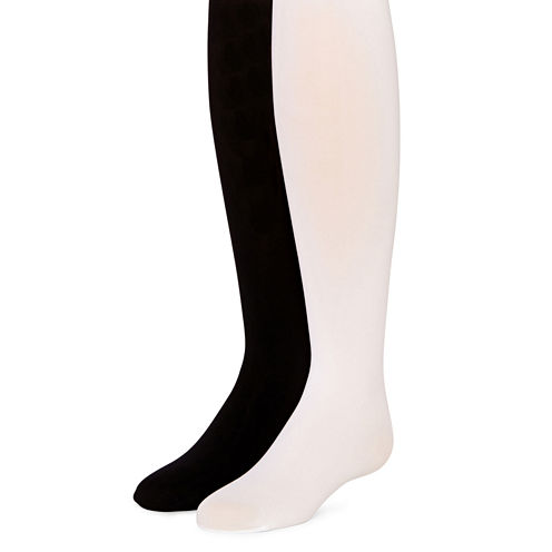 Total Girl® 2-pk. Opaque Tights - Girls 4-14