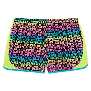 jcpenney.com | Xersion™ Printed Running Shorts - Girls 7-16 and Plus