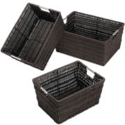 Whitmor Rattique 3-pc. Java Storage Basket Set