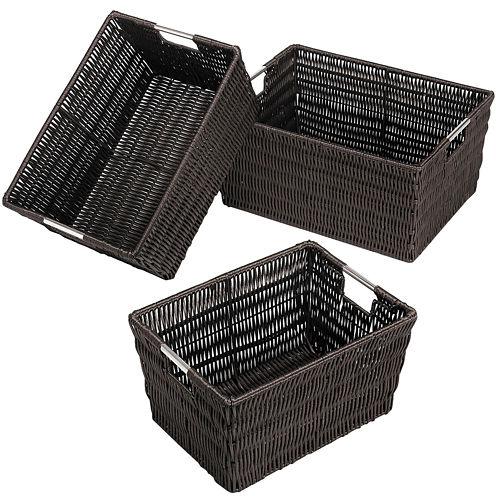 Whitmor Rattique 3-pc. Java Storage Basket Set