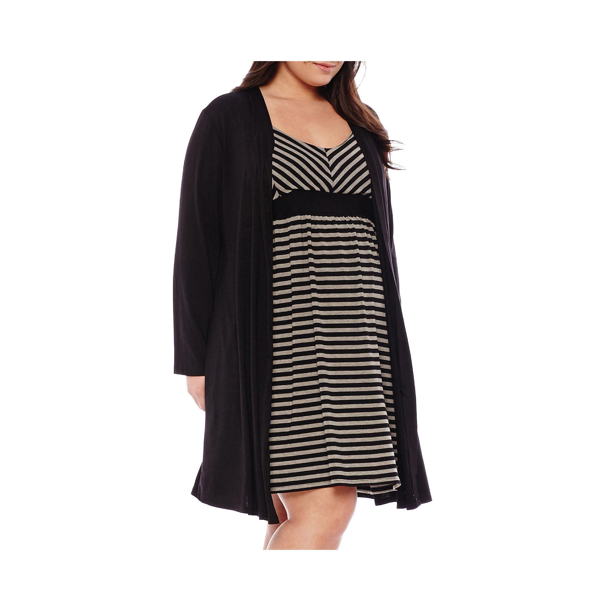 Spencer Maternity Nursing Chemise & Robe Set - Plus plus size,  plus size fashion plus size appare