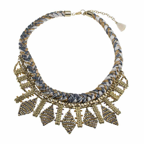 Jardin Womens Brass Collar Necklace