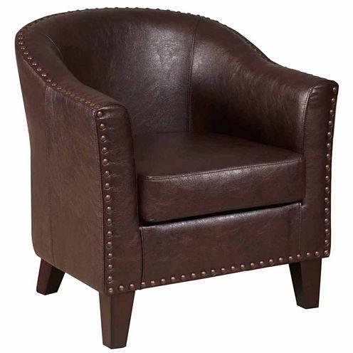 Home Meridian Petite Nailhead Trim Club Chair