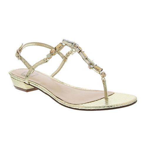 I. Miller Karilyn Embellished Ankle-Strap Sandals