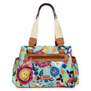 Lily Bloom Triple Section Satchel Bag