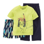 Carter's® 3-pc. Scuba Dog Pajama Set -Toddler Boys 2t-5t