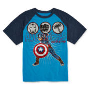 Marvel Captain America Raglan Graphic Tee - Boys 8-20